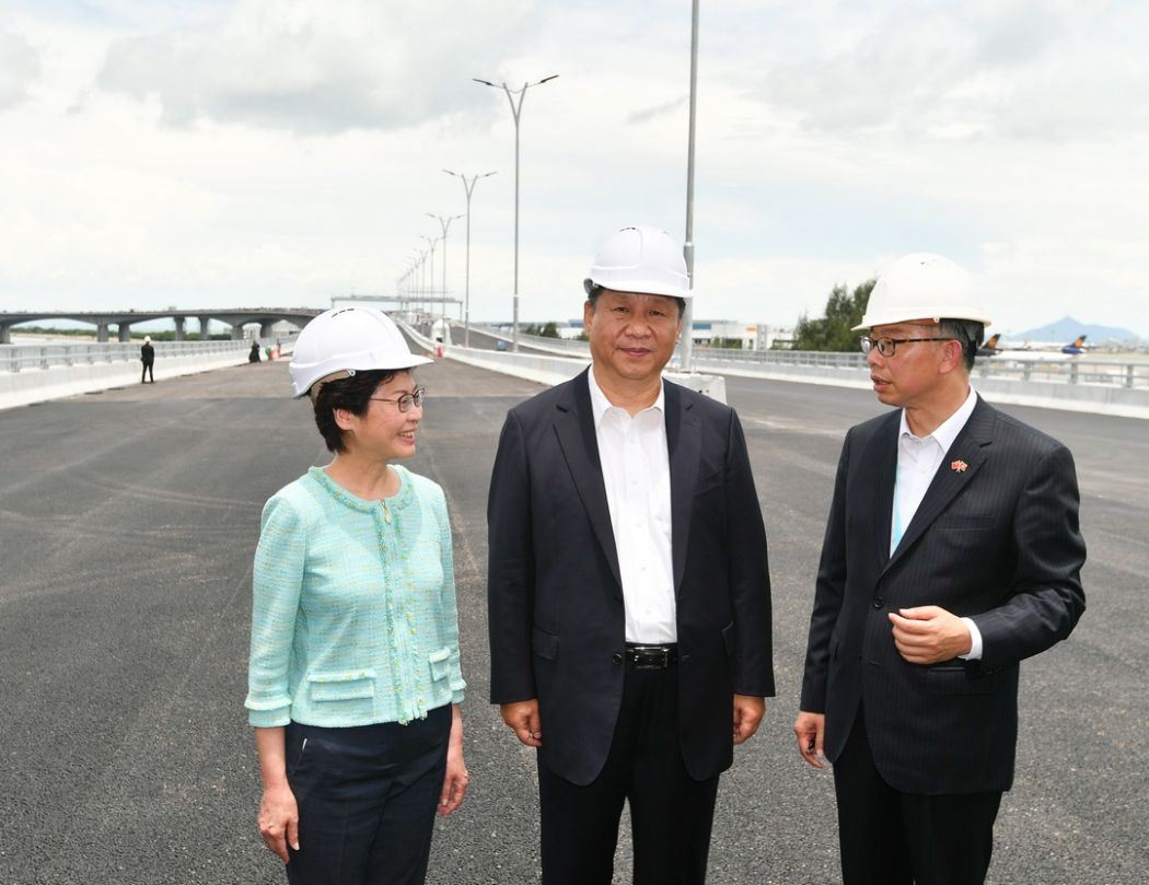xi jinping carrie lam macau zuhai bridge project