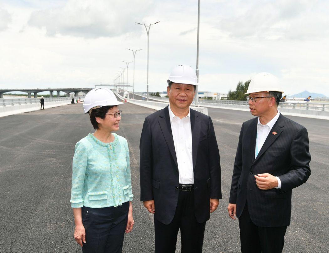 xi jinping carrie lam macau zuhai bridge project