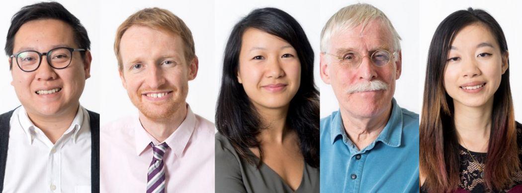 Editorial Director Kris Cheng, Editor-in-Chief Tom Grundy, Deputy Editor Catherine Lai, Guest Editor Tim Hamlett and Senior Reporter Karen Cheung.