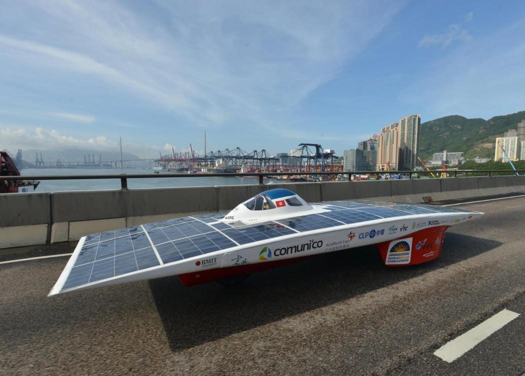 Solar-powered vehicle Sophie