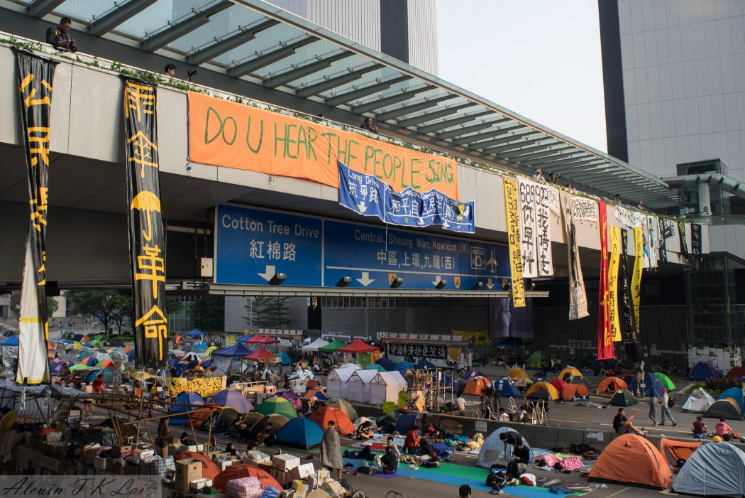 Admiralty during the Occupy protest