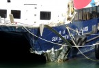 Damaged ship following the Lamma Island Collision in 2012. Photo: Wikimedia Commons.