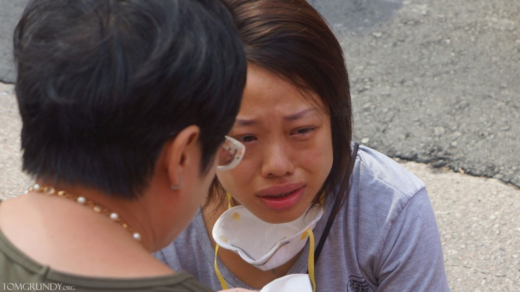 Mong Kok protestor injured