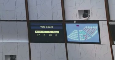 Political reform bill was voted down in LegCo. Photo: LegCo