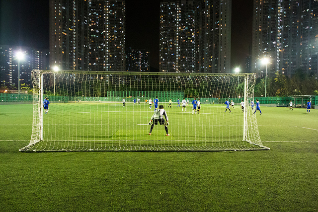 HK football game at night. Photo: See-ming Lee via Flickr.