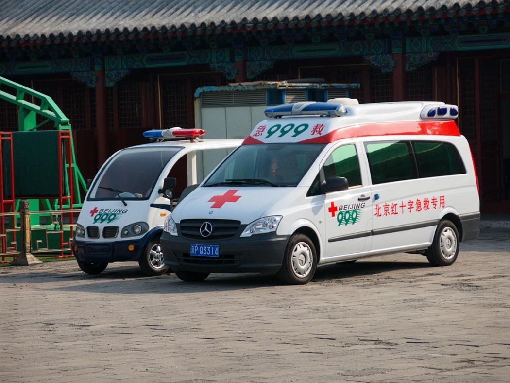 Ambulance car in Beijing