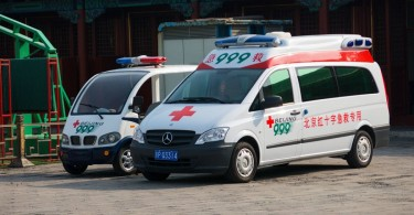 Ambulance car in Beijing