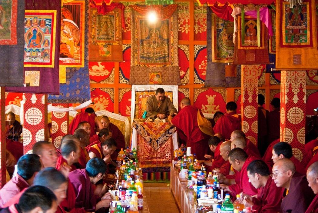 Buddhist monks in Tibet