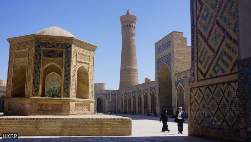 Bukhara's Kalon Mosque and Minaret.