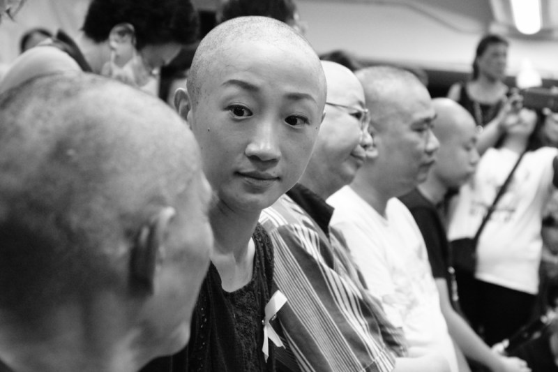tanya chan head shaving occupy central