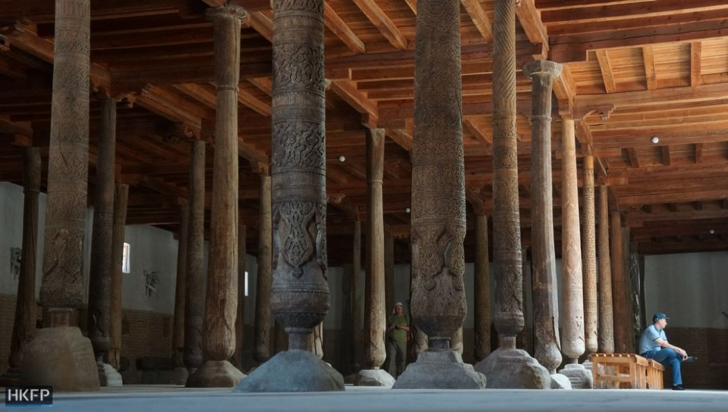 Khiva's Juma Mosque.