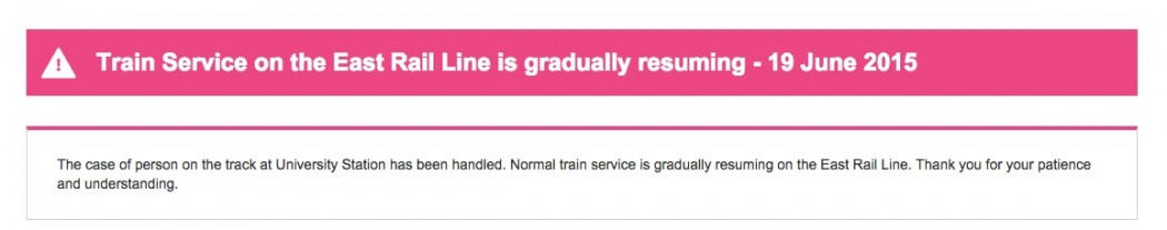 trains resuming