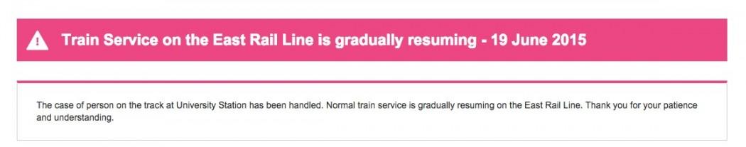 trains resuming