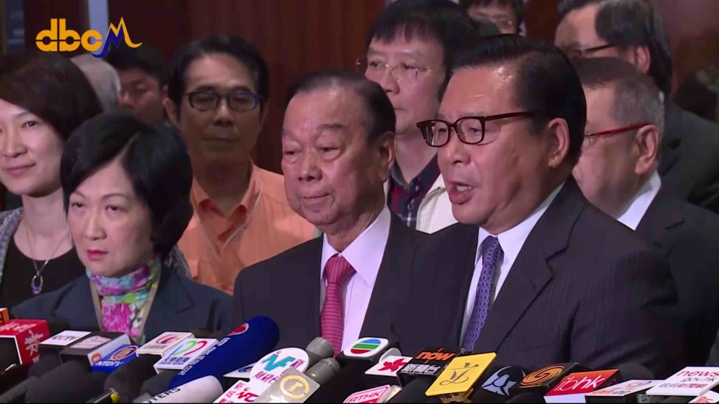 Press Conference pro-establishment