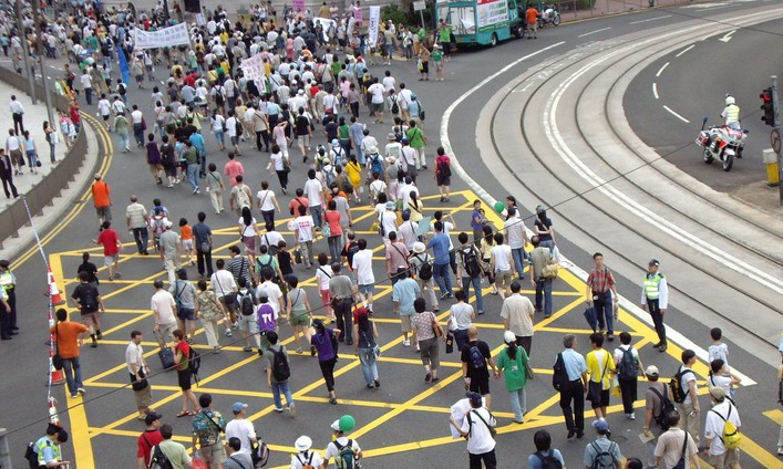 July 1 protests in 2006. Photo: Wikimedia Commons.