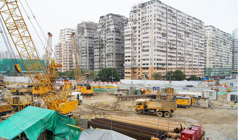 West Kowloon High Speed Rail construction. Photo: MTR Facebook Page.