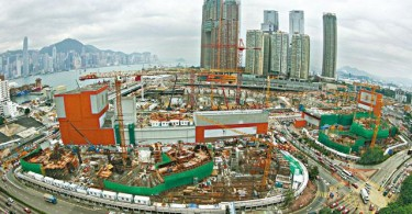 The cross-border link's West Kowloon construction site. Photo: Apple Daily.