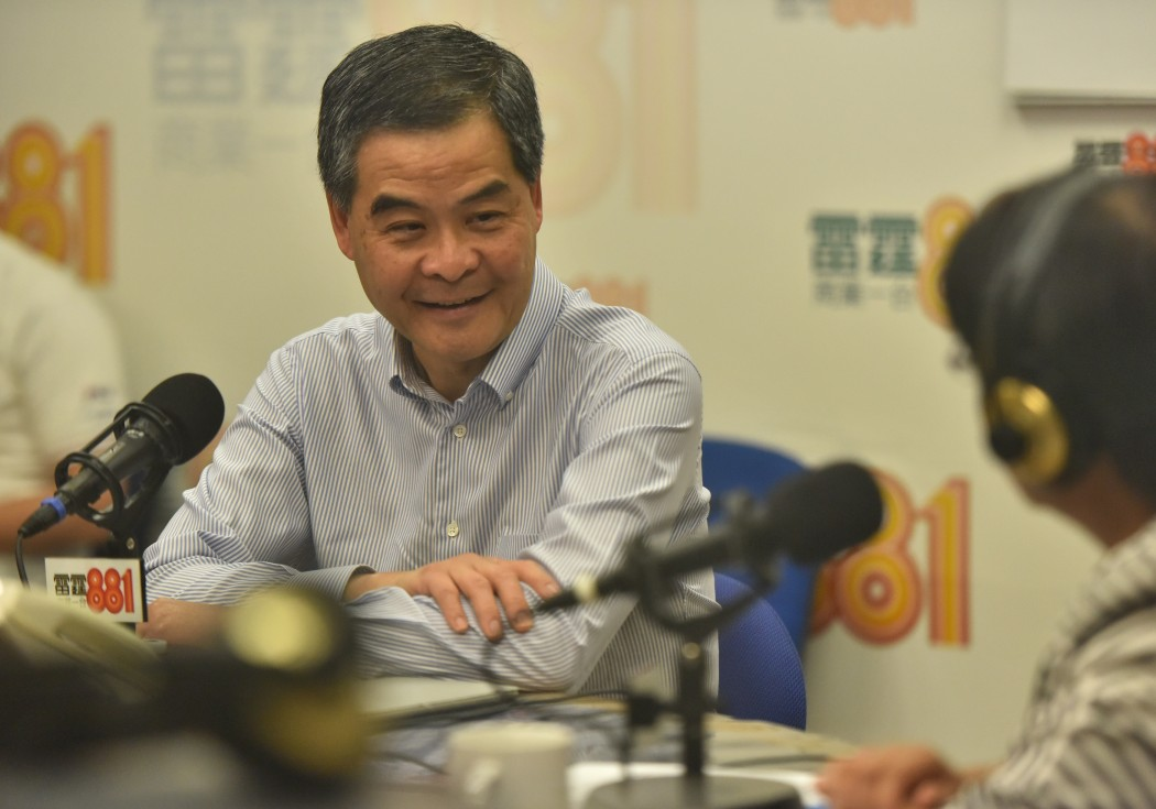 Leung Chun-ying commercial radio