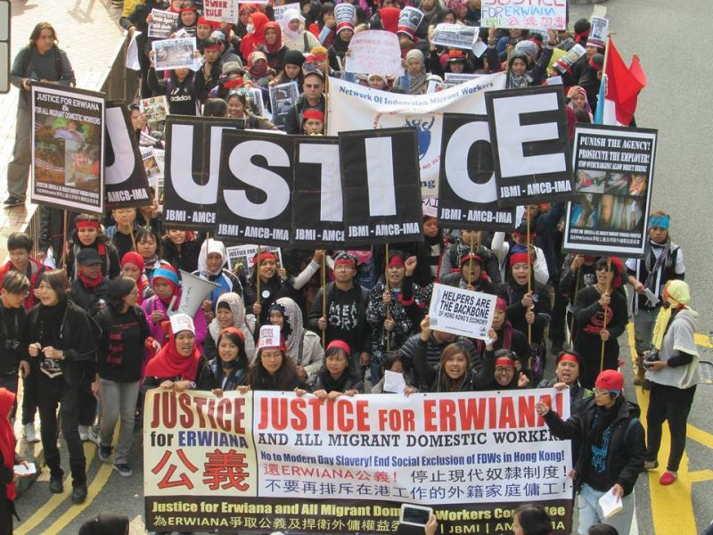 erwiana protest domestic worker hong kong