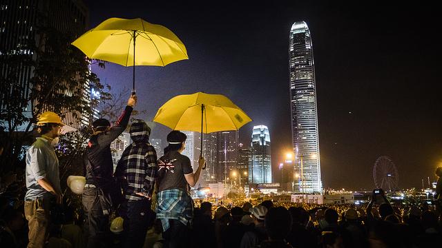 hong kong occupy protest umbrella