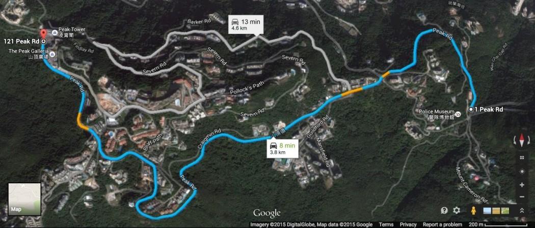 Google map peak road