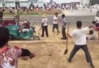 E. China villagers clash