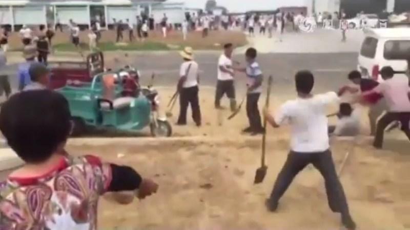 E. China villagers clash