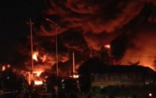 fire tornado in Huizhou
