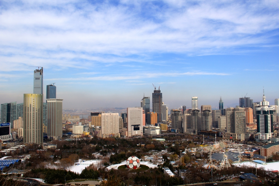 dalian skyline china