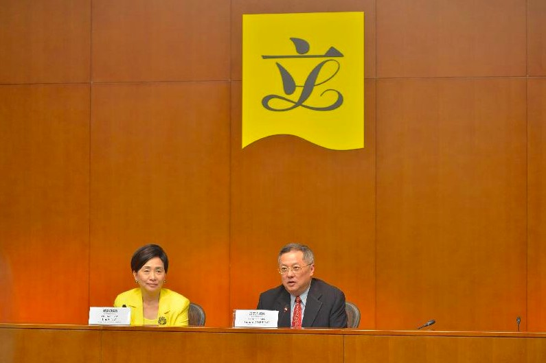 Emily Lau Wai-hing with Tommy Cheung. Photo: GovHK.