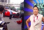 Psy car crash
