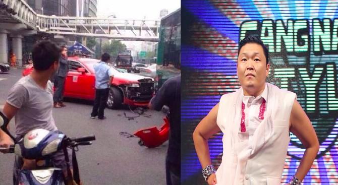 Psy car crash