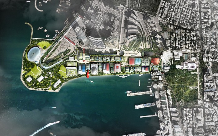 Aerial Map of proposed West Kowloon Cultural District. Photo: www.westkowloon.hk