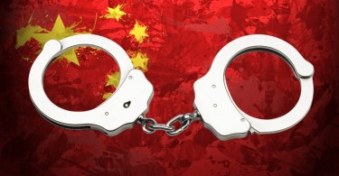 china flag arrests
