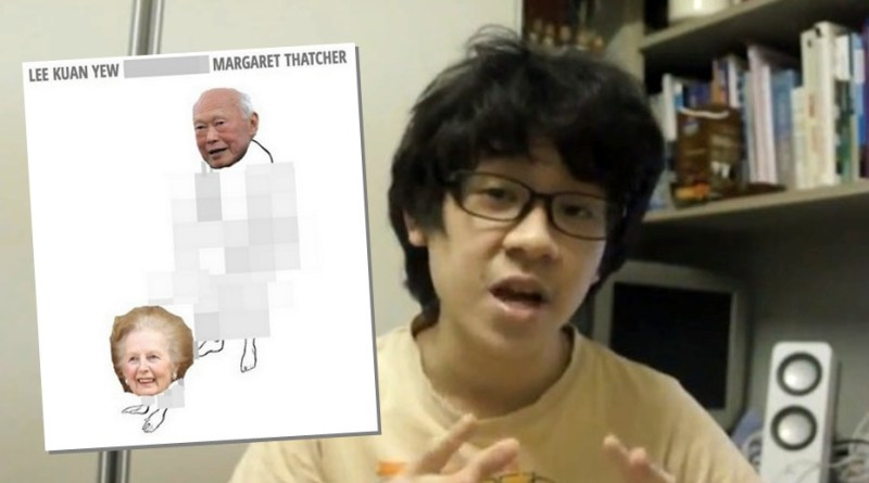 Amos Yee thatcher picture