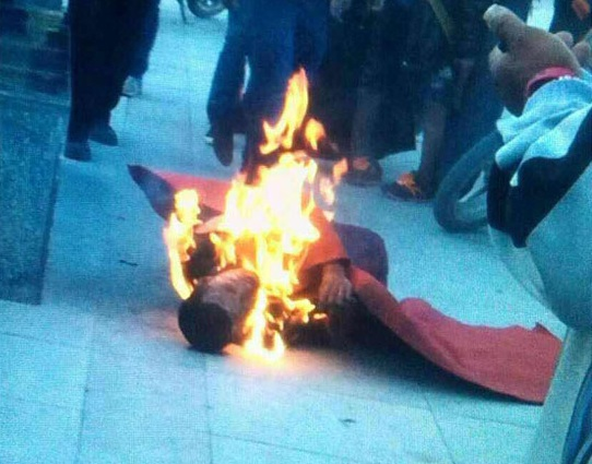 Sonam Topgyal, a self-immolating monk