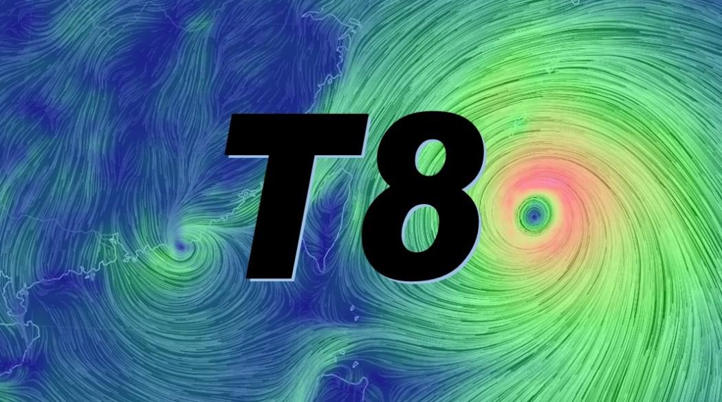 T8 typhoon warning Linfa