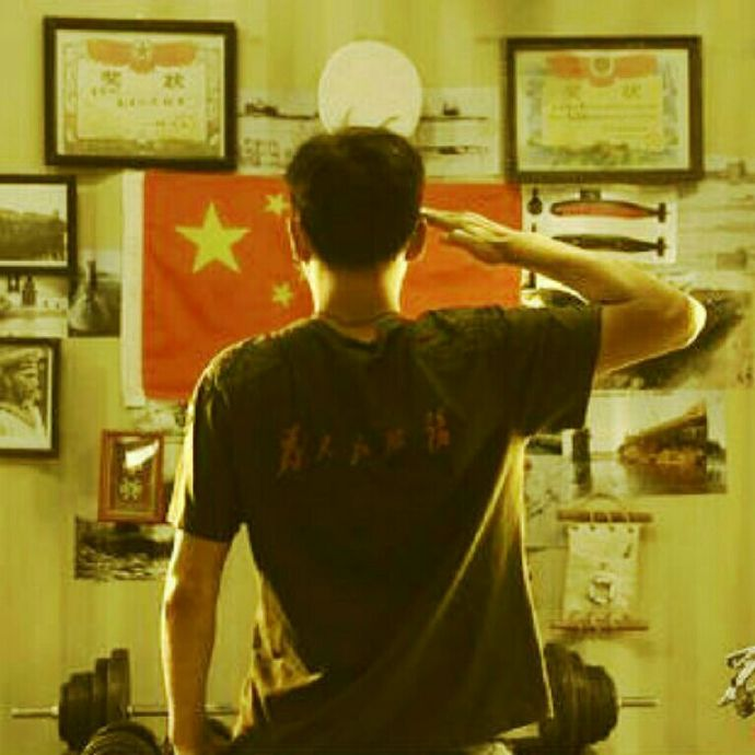 Hu Jusen photo of patriotic youth