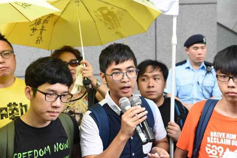 occupy activists outside police hq