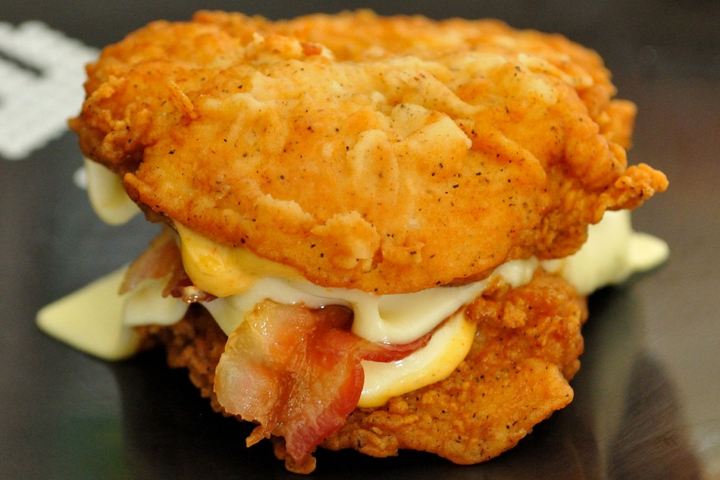 The original Double Down Burger