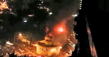 Nga Tsin Wai Tsuen on fire
