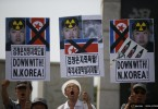 north korea protest