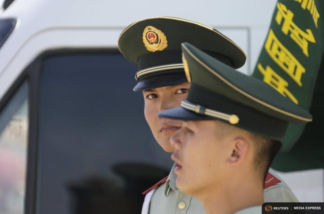Paramilitary police officers, china