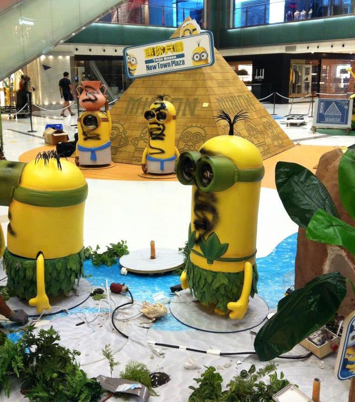 minion figures shatin mall