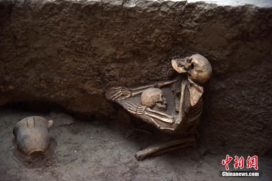 Skeletal remains, mother, qinghai site