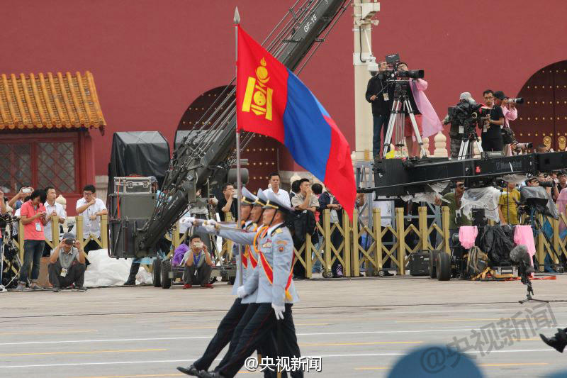 Mongolian troops at Victory Day rehearsal
