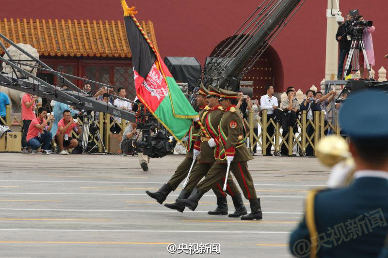 Afghansoldiers at Tiananmen Square