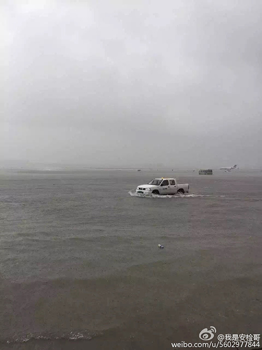 Flooding at Shanghai Hongqiao Airport