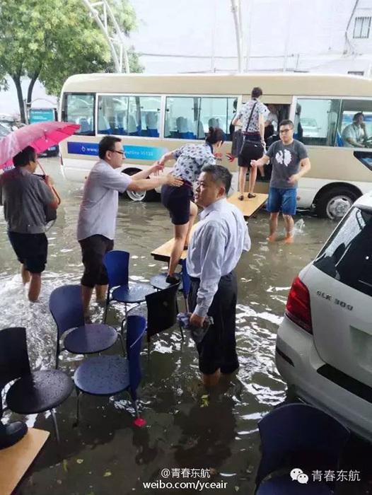 Flooding at Shanghai Hongqiao Airport