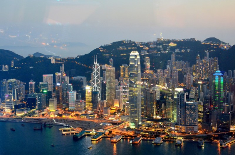 Central district of Hong Kong.